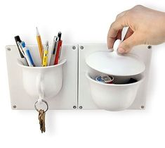 SO adorable and useful! I want these for my bathroom, instead of the toothbrush holder that my sonicare won't fit in, or the bar soap holder that I never use, because bar soap = icky, liquid soap is much better.