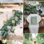 Top 5 greenery wedding color combos for 2017 spring trends