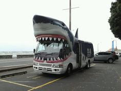 This is what we call riding in style #jawsome #sharkmobile