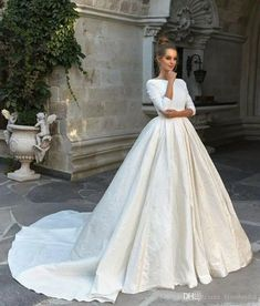 Eva Lendel Wedding Gowns can be found here at The Blushing Bride Boutique in Frisco, Texas. Lace Wedding Dress With Sleeves, Long Sleeve Wedding, Modest Wedding Dresses, Bridal Dresses, Wedding Gowns, Lace Sleeves, Ball Dresses, Ball Gowns, Wedding Destination