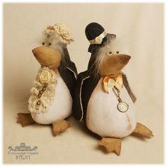 А вот какие пингвины получились по этой выкройке