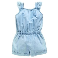 Kids Baby Girls Clothing Rompers Denim Blue Cotton Washed Jeans Sleeveless Bow Jumpsuit Years Old - Kid Shop Global - Kids & Baby Shop Online - baby & kids clothing, toys for baby & kid Baby Girl Romper, Baby Girl Dresses, Baby Girl Newborn, Baby Dress, Baby Girls, Baby Outfits, Kids Outfits, Denim And Lace, Jumpsuits For Girls