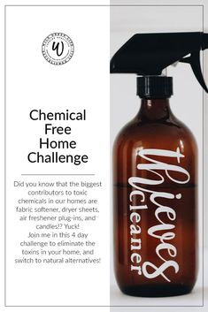 Chemical free home challenge - ditch the toxins and switch to 100% natural cleaning alternatives!