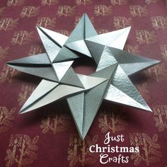 Paper craft tea bag folding Christmas star instructions and tutorial make a card topper or tree ornament
