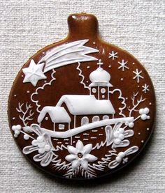 Christmas Gingerbread, Noel Christmas, Christmas Goodies, Christmas Treats, Christmas Baking, Gingerbread Cookies, Christmas Decorations, Fancy Cookies, Iced Cookies