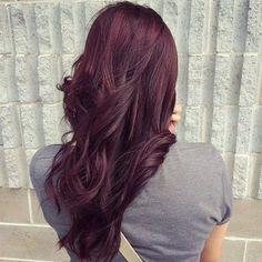 burgundy hair color idea