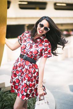 Kate Spade Stamped Dots Shirtdress via Pink Pumps + Pasta Fashion Blog