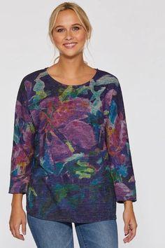 Hibiscus at Night Soft Touch Dolman Sleeve Top – Claire Desjardins Art. #clairedesjardins #clairedesjardinsart #ClaireDesjardinsApparel #DesignerJacket #JeanJacket #cami #WomensApparel #WearableArt #designerclothing #apparel #designerapparel #artandfashion #fashionandclothing #artonclothing #abstractart #abstractpainting #designerclothes #womensapparel #Tunic #Dress #Jacket #MotoJacket #WomensTop