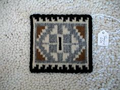 """One of my next miniature projects will be a southwestern  adobe style dollhouse. These authentic Navajo mini rugs are almost irresistible and just the right size, only problem is they are highly collectible now. Most of these are approximately 3"""" by 4"""" which is perfect for in front of a fireplace and they look gorgeous on a miniature stone or wood dollhouse floor."""