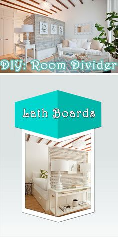 Expanses of space can be quite intimidating - so break that with a DIY room divider. All within budget, giving you manageable and private space. Bedroom Divider, Room Divider Doors, Ikea Pax Doors, Cheap Room Dividers, Pallet Room, Ikea Wardrobe, Divider Ideas, Wooden Plates, Diy On A Budget