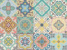 Vinyl decal self-adhesive Portuguese sticker Tiles par NossaRua