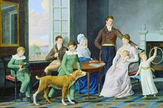Woolsey Family by Berczy, William Von Moll - Wall Art Giclee Print or Canvas Art Inuit, Family Potrait, Gabriel, Art Commerce, Regency Era, Canadian Artists, Art Plastique, American Art, Art History