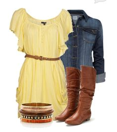 Cute spring outfit... With cowgirl boots again
