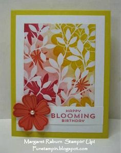 Fun Stampin' with Margaret!  Irresistably Yours DSP (SAB), Flower Patch, Flower Shop, Pansy Punch
