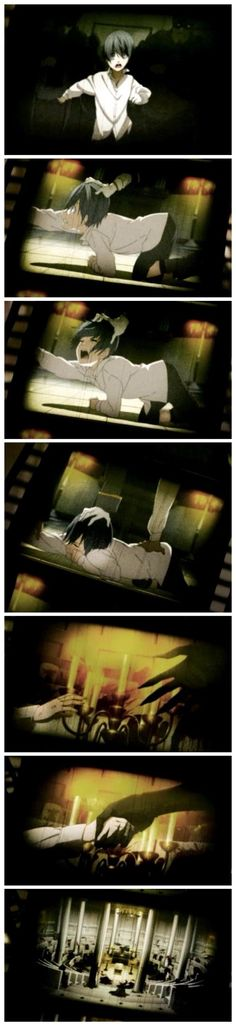 Ciel and Sebastian's beginning - Black Butler - Book of Circus - This was so sad . . . I CRIED SO HARD!!!