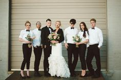 Edgy and alternative wedding | Chantel Marie Photography | see more on: http://burnettsboards.com/2014/06/edgy-femininity-black-blush-wedding/  #alternativewedding #offbeat