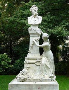 Parc Monceau ~ monument à Édouard Pailleron (1834–1899) French poet and dramatist.