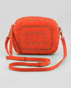 Charlie Chain-Trim Crossbody Bag, Poppy at CUSP.