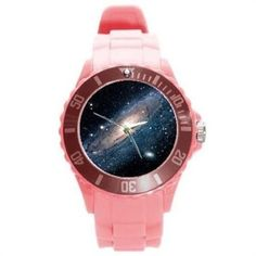 #Andromeda galaxy #space astronomy pink #sport watch chunky tpu plastic,  View more on the LINK: 	http://www.zeppy.io/product/gb/2/321645941133/