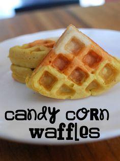 Candy Corn Waffles