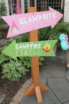Camping / Summer Camp Birthday Party Ideas | Photo 6 of 25 | Catch My Party