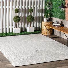 nuLOOM Lefebvre Casual Braided Ivory 5 ft. x 8 ft. Indoor/Outdoor Area Rug-HJFV01E-508 - The Home Depot Casual Braids, Oval Rugs, Polypropylene Rugs, Indoor Outdoor Area Rugs, Outdoor Carpet, Outdoor Spaces, Area Rug Sizes, Buy Rugs, Rugs Usa