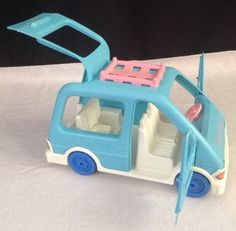 1993 Fisher Price Blue Mini Van  for Loving Family People SUV Car Vehicle #FisherPrice