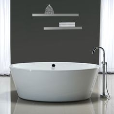 Betsy 67-in. Bathtub with Athena Freestanding Faucet