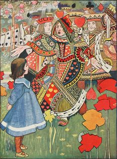 Off with Her Head! by Charles Robinson (1907) for Alice's Adventures in Wonderland by Lewis Carroll
