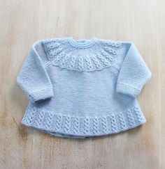 Blue Baby Jacket Instructions in English PDF par LittleFrenchKnits Ravelry: 26 / Blue Baby Jacket pattern by Florence Merlin Knitting Pattern Baby Wool Cardigan Instructions in English PDF Size Newborn to 3 months Eyelet cables on yoke and hem ~~ Little F Baby Knitting Patterns, Love Knitting, Baby Cardigan Knitting Pattern, Baby Patterns, Knitting Needles, Vintage Knitting, Cardigan Bebe, Wool Cardigan, Gestrickte Booties