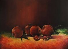 """Saatchi Art Artist Munir Alubaidi; Painting, """"pomegranate 2"""" #art"""
