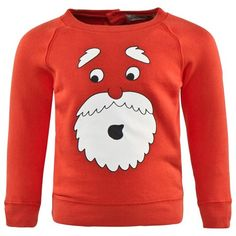 Stella McCartney Kids Red Santa Face Sweatshirt | AlexandAlexa