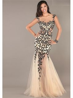 Mermaid Beading Chiffon 2013 Prom Dresses
