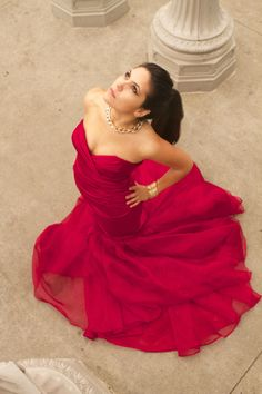 Briana Alegria//Red Dress//LACMA//Los Angeles  Actress