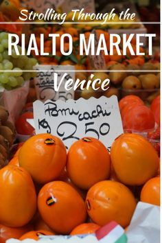 Guide and tips to visiting the Rialto Market in Venice with kids.  See the interesting things to find in this famous market. Italy with kids