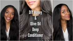 Just to let you know, I always apply this honey and olive oil deep conditioner to freshly washed hair. Halo Braid Tutorials, Natural Hair Care, Natural Hair Styles, Hair Hacks, Hair Tips, Diy Hair Mask, Deep Conditioner, Hair Journey, Fishtail