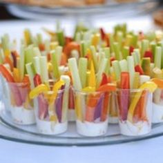 Vegetable and Dip Cups... these are perfect for summer parties!