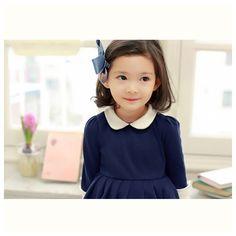 BUYMA.com 【関送込】キッズ 女の子上品 ネイビー ワンピース ドレス(18640604)