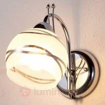 Applique moderne Leanda, chromé-LAMPENWELT.com