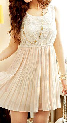 Apricot summer mini dress