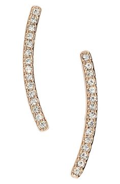 Adding some sparkle to Mother's Day with these curved bar stud earrings in gold. / @nordstrom #nordstrom