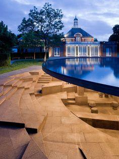 Serpentine Gallery Pavilion in Kensington Gardens, London by Architects Jacques Herzog and Pierre De Meuron