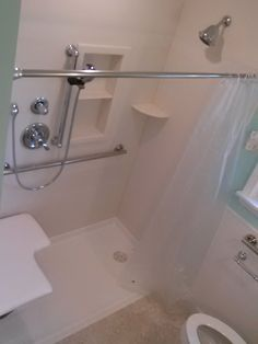 Custom Barrier Free Bathroom With Fold Down Grab Bars. | Universal Builds  And Remodels | Pinterest | Grab Bars