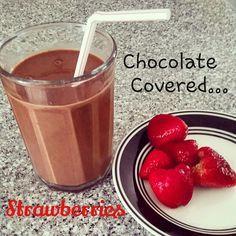 Tastes like dessert with protein/ almond milk 1 scoop chocolate shakeology 1 cup strawberries Ice to taste Optional: banana for creaminess Chocolate Shakeology, Almond Milk, 1 Cup, Strawberries, Protein, Pudding, Banana, Ice, Health