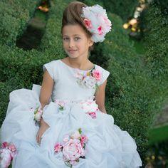 abfff8bee11 Lesy Luxury Flower - Blue Tulle Luxury Long Dress
