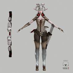 3D Model Elven Huntress | Fantasy Character 3D Models | DavidDvorak - 3D Squirrel