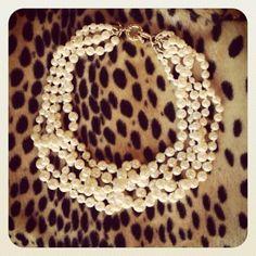 pearls and animal print