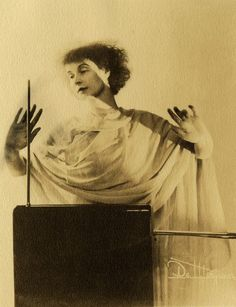 Lucie Bigelow Rosen  playing the Theremin, circa 1920's  - T for tout http://chagalov.tumblr.com/#80135643791