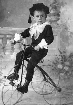 San Jose boy wearing a small tam with a Fauntleroy suit about 1905.