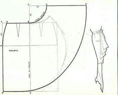 from Patterns & Pattern Making board Waterfall ruffle skirt pattern. And many other patterns, especially necklines. Sewing Tutorials, Sewing Hacks, Sewing Projects, Dress Tutorials, Techniques Couture, Sewing Techniques, Pattern Cutting, Pattern Making, Dress Sewing Patterns